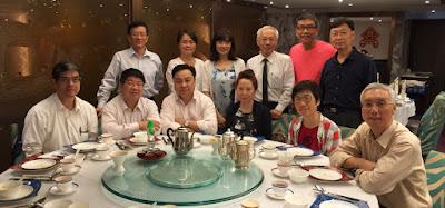 伍德賢訪港,2015年8月17日與同學在星光行潮庭聚餐
