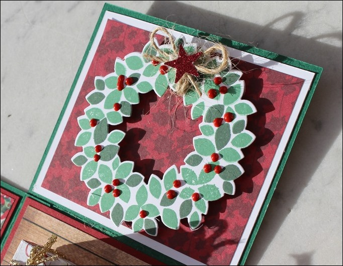 Explosion Box Weihnachten Christmas Poinsettia Christbaum Stampin Up Es weihnachtet sehr 04