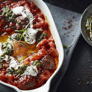 Baked Eggs With Lamb Kofta