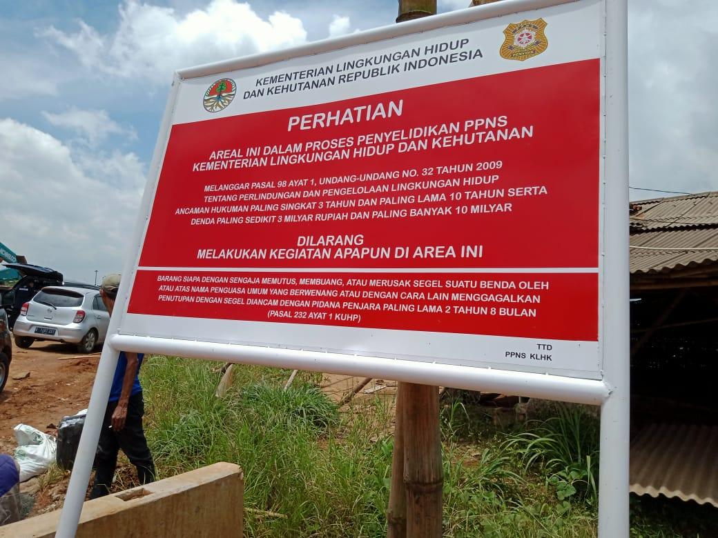 Gakkum KLHK dan Tim Gabungan Hentikan Tambang Galian C illegal, Di Sukatani, Purwakarta