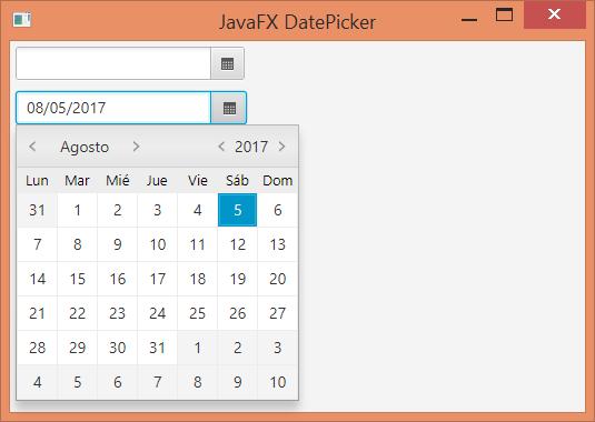 DatePicker control para fechas