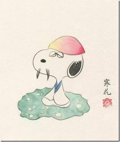 Peanuts X China Chic by froidrosarouge 花生漫畫 中國風 by寒花 Spike 06