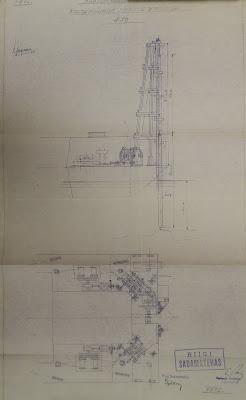 Рабочий чертеж свайного молота Лобница.1933 год(из фондов Эст. гос. архива)