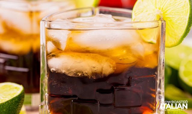 Rum and Coke Recipe with lime