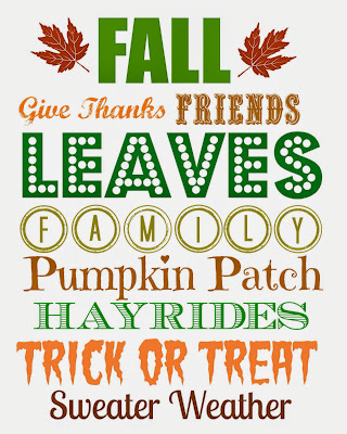 fall printable subway art