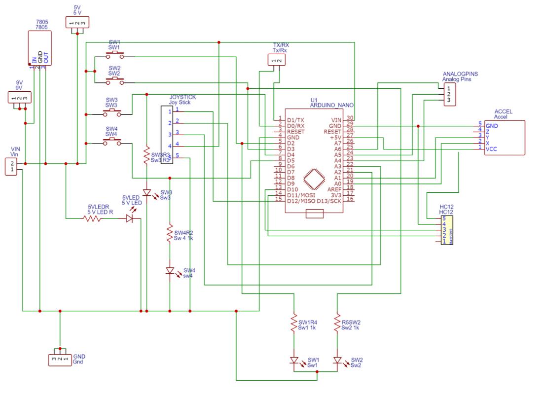arduino remote controller circuit