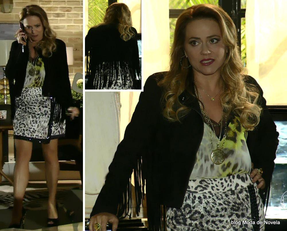 moda da novela Em Família - look da Shirley dia 24 de abril