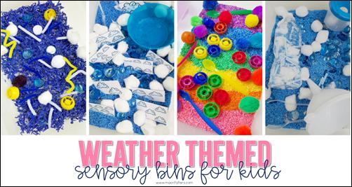 Weather Themed Sensory Bins for Kids