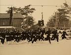 体育祭・応援合戦。写真は32回生の「米山46部隊」(1980)
