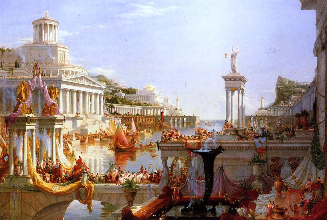 "the new jacksonian blog america guided by wisdom a neoclassical  thomas cole the course of empire consumation 1834 1836 ""rome reborn on western shores """