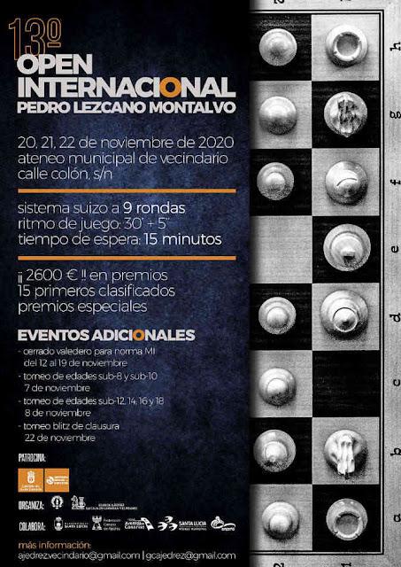 PRESENCIAL, 20-22 noviembre, XIII Memorial Pedro Lezcano (Gran Canaria)