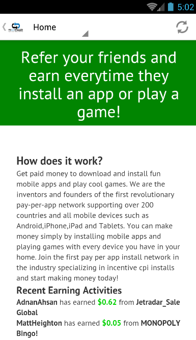 App Install Rewards- screenshot