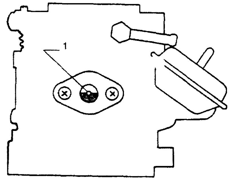 Проверка уровня топлива в поплавковой камере карбюратора серии DCX328 после короткой работы двигателя