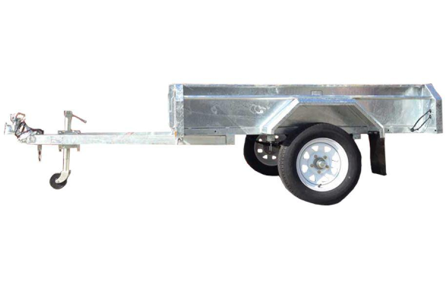 6 x 4 Galvanised Box Trailer For Sale Welded Sides tiltable