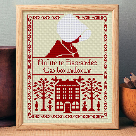 handmaid's tale cross stitch
