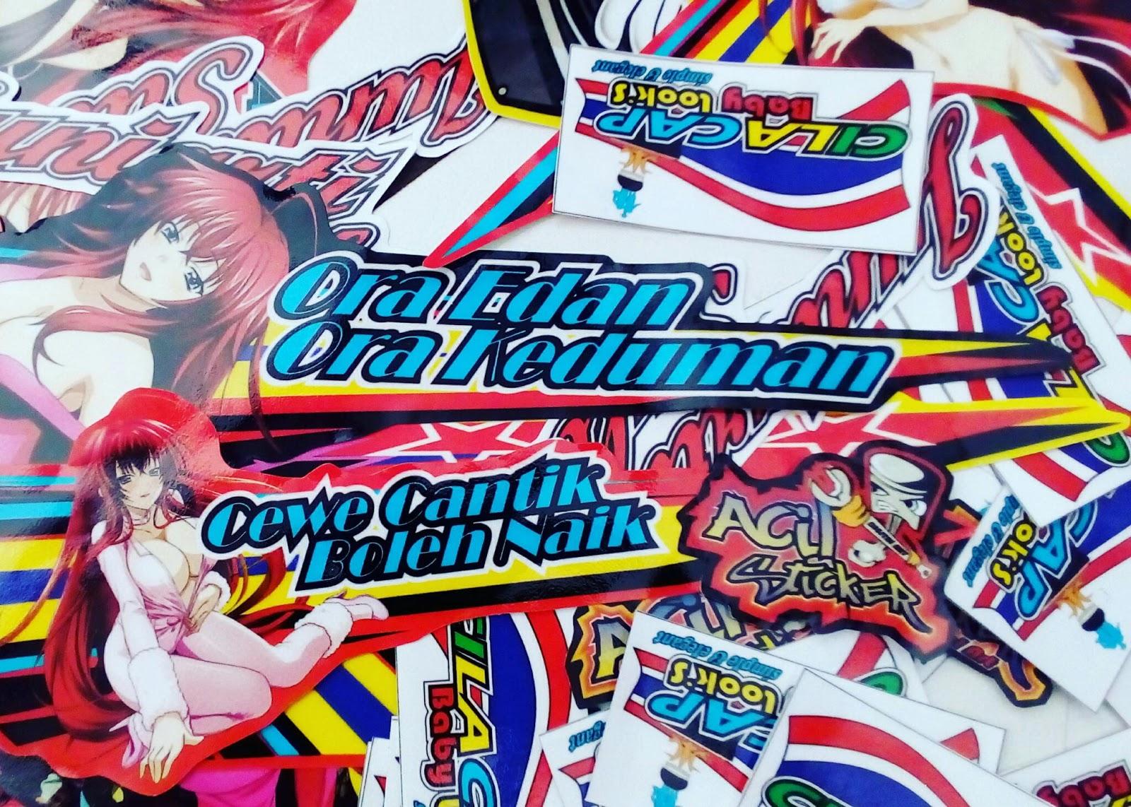 Desain drag racing custom stickers