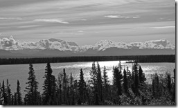 Willow Lake with Wrangell Mountains in background, Richardson Highway, Alaska