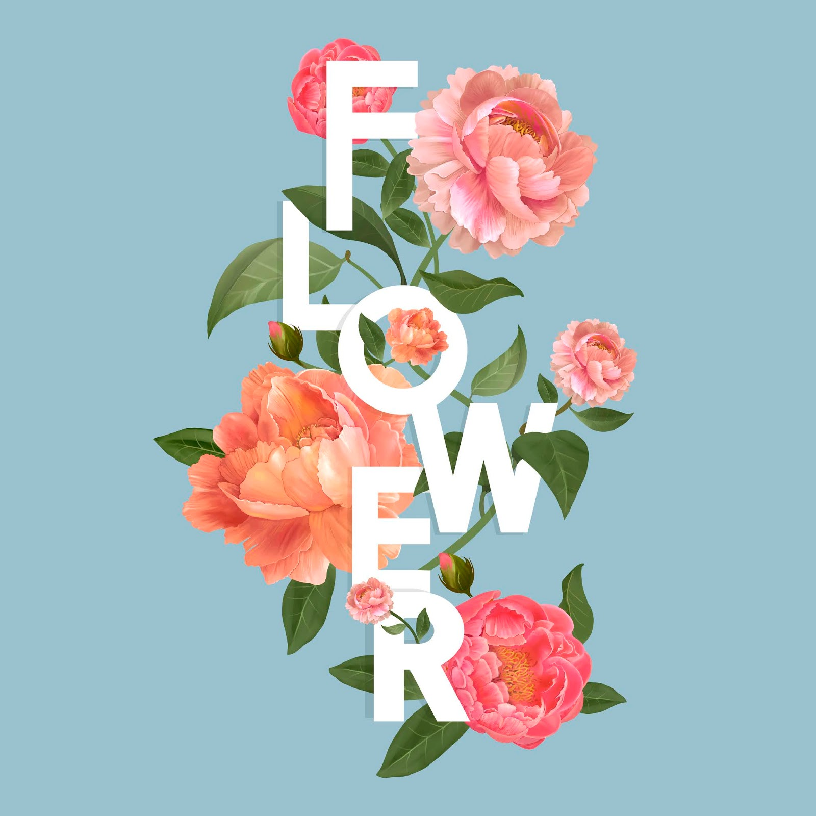Beautiful Blooming Flowers Design Vector Free Download Vector CDR, AI, EPS and PNG Formats