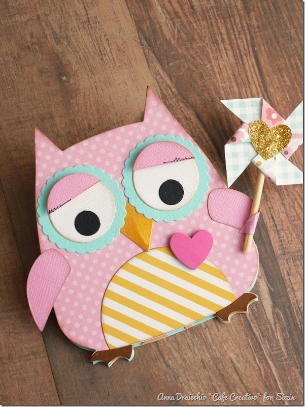 Easel Card Owl - sizzix bigshot plus by cafecreativo (3)