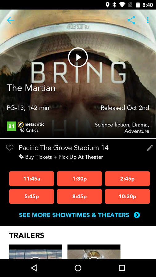 Moviefone - Movies & Showtimes- screenshot