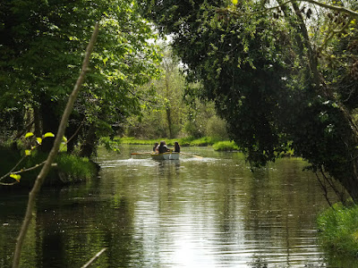 Boating on Thorpeness Mere