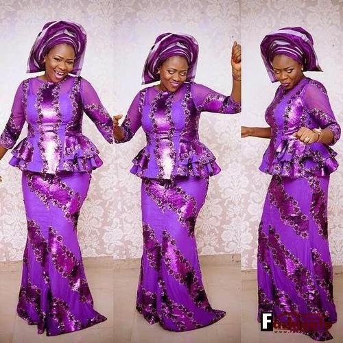 50 Latest Nigerian Lace Skirt and Blouse Ankara Styles