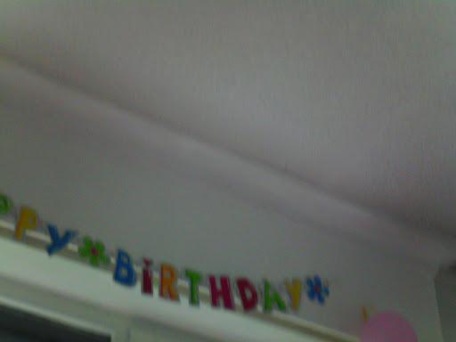 Dit was mijn verjaardagsversiering