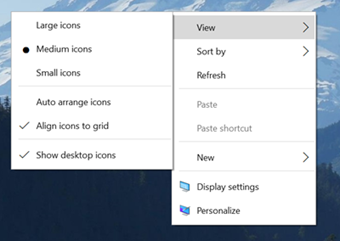 Context Menu in Windows 10 build 10532
