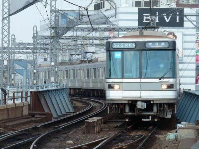 東京メトロ日比谷線 中目黒行き3 03系幕式