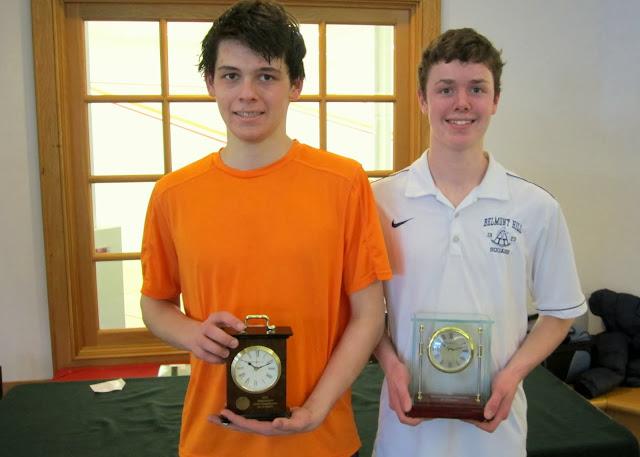 Mass Junior Championships, Jan 3-5, 2014  BU 19: James Watson (Darien, CT); Champion - Timmy Brownell (Belmont, MA)