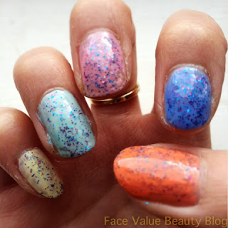 essie barry m models own nail polish speckle nails