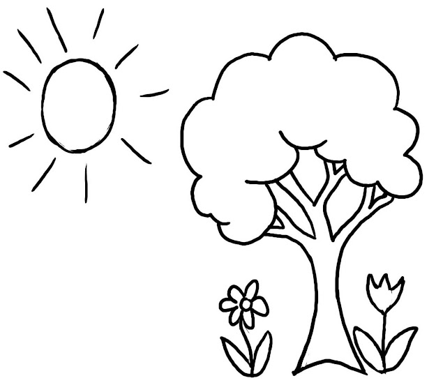 Pictures Wele Spring Tree Coloring Pages For Kids