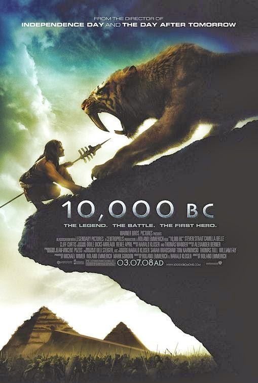 Poster Of 10,000 BC (2008) Full Movie Hindi Dubbed Free Download Watch Online At Alldownloads4u.Com