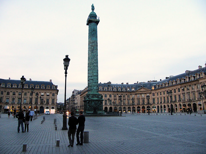 Qué ver en París en un fin de semana; plaza Vendome
