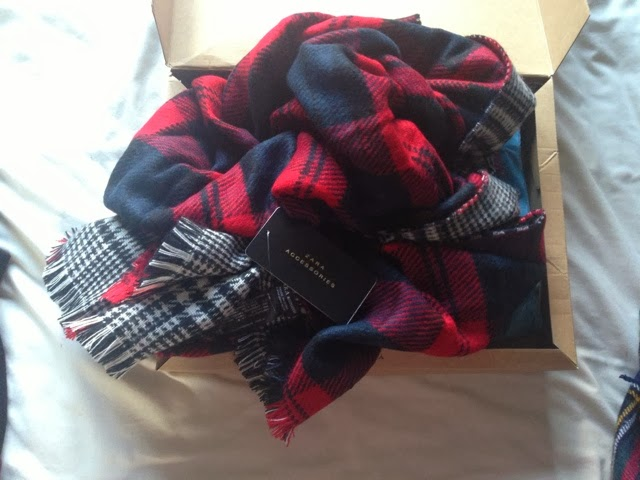 Sammi Jackson - Zara Plaid Two Sided Scarf