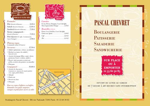 dépliant boulangerie Pascal 1 -Sans Exception
