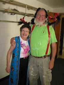 Donna & Pete having fun