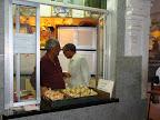 Laddu and Maruthi prasad distribution counter