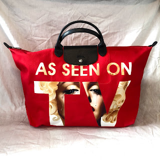 Jeremy Scott x Longchamp TV Le Pliage Bag