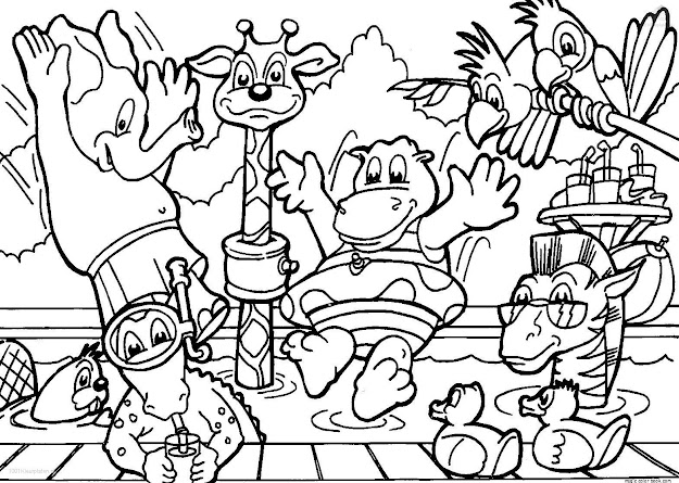 Printable Zoo Animal Coloring Pages  Coloringpagefree
