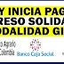 Pago del Ingreso Solidario en diciembre, con giro en efectivo