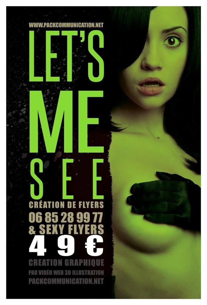 création flyers soirées thème Let's Me See
