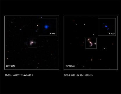 dois pares de buracos negros supermassivos