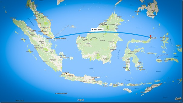 Flug Singapur nach Manado