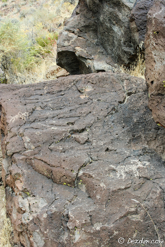 This petroglyph appears to represent a hunting scene.