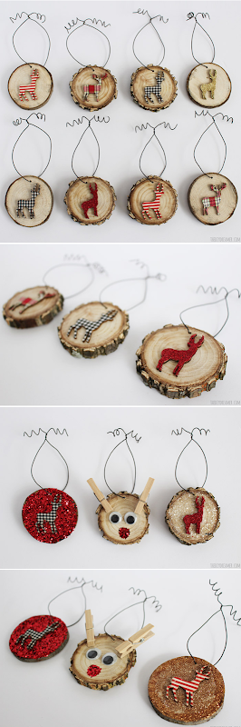 Deer-Wood-Slice-Ornaments-with-Rudolph