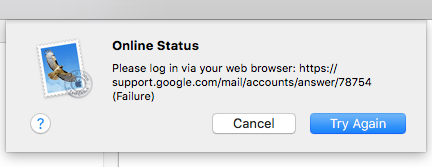 my gmail is not working on my mac