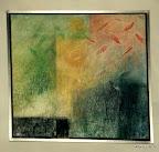 Entwurf, Altarbild, Auferstehung, Acryl, MDF, Alurahmen 2002