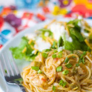 Crockpot Chicken Spaghetti.