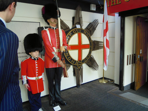 Guards Museum - young boy dressed up! From The Complete Guide to the Changing of the Guards